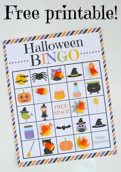 Soft image throughout halloween bingo printable