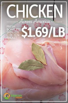 $1.69/lb fresh chicken breast from Zaycon! Skip the middlemen and get your chicken fresh.