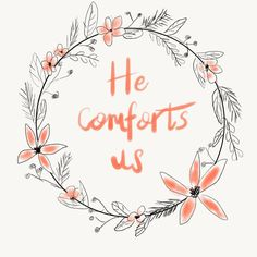 "Catching up with #30daysofbiblelettering  Day 21/30 ""He comforts us in all our…"