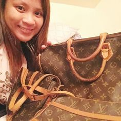 My LV obsession! Need help authenticating an LV? My #louisvuitton obsession. This speedy next to me has an upside down pattern on its back side due to its continuous pattern of stitching front to back esp. On speedy, papillons and keepalls model. Ask me questions about how to spot a real or fake LV. I'm not an expert at authenticating but I'm getting there. #fashionista #stylist Other