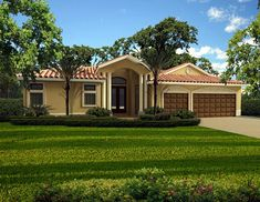 Florida House Plan chp-38560 at COOLhouseplans.com