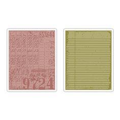 Sizzix.com - Sizzix Texture Fades Embossing Folders 2PK - Collage & Notebook Set