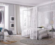 Dormitorio con dosel... ¡para los románticos! | Decorar tu casa es facilisimo.com