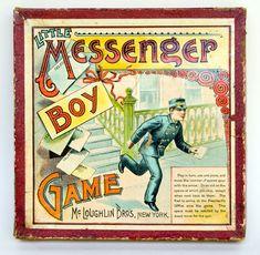 Image detail for -Antique Game: Little Messenger Boy Game: McLoughlin Bros. New York