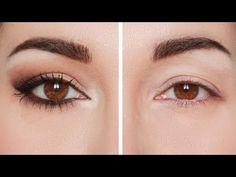 Falling eyelid makeup, swollen eyes: aubergine and rose. Make up lifting effect . Eye Makeup Cut Crease, Eye Makeup Steps, Cat Eye Makeup, Simple Eye Makeup, Makeup Tips, Hooded Eye Makeup Tutorial, Eyeshadow For Blue Eyes, Makeup Over 40, Kajal Eyeliner