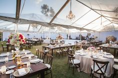 Clear Tent at Sophisticated Rustic Wedding   Photography: John and Joseph Photography. Read More:  http://www.insideweddings.com/biz/thomas-bui-lifestyle-san-diego/8819/