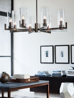 Ellington 8 Light Pendant in Antique Nickel