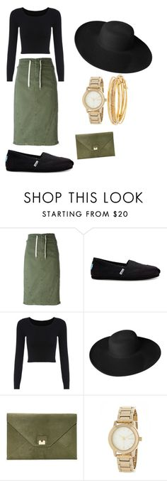 """""""Untitled #9"""" by karlagtz on Polyvore featuring Ermanno Scervino, TOMS, Dorfman Pacific, Boohoo, DKNY and Kate Spade"""