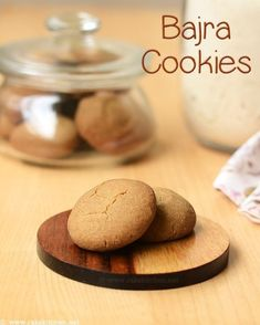Millet cookies recipe – Pearl millet known as bajra in Hindi and Kambu in tamil, made to cookies with bajra flour. A gluten free cookies wit. Millet Recipes, Oats Recipes, Baby Food Recipes, Indian Food Recipes, Sweet Recipes, Baking Recipes, Cookie Recipes, Indian Snacks, Recipes