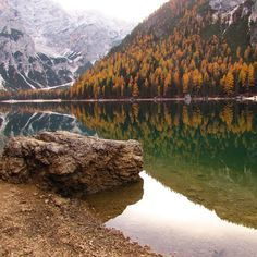 """Mi piace"": 50, commenti: 7 - viper (@recursivepointer) su Instagram: ""#lagodibraies #alps #dolomiti #alpi #lago #lake #lakebraies #braies #fall #autumn #reflection…"""