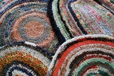Crochet Rag Rugs...Just like my grandma made...I have one half done.