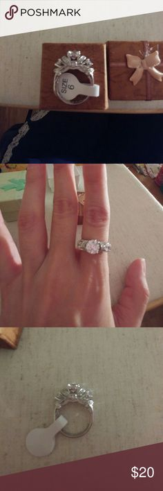 """White Gold Plated """"I Love You"""" Ring 18K white gold plated """"I Love You"""" CZ Ring. Jewelry Rings"""