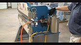homemade press brake with reverse ram operation - YouTube