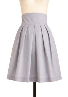 Sail We Dance Skirt in Stripes, #ModCloth