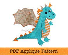 Hey, diesen tollen Etsy-Artikel fand ich bei https://www.etsy.com/de/listing/127272974/dragon-applique-pattern-pdf-cute-dragon