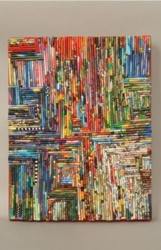 schilderij van tijdschriften rolletjes