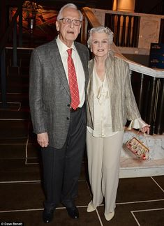 Angela Lansbury, 88, looking chic … cosied up to Blithe Spirit show director Michael Blakemore
