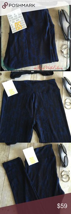 🆕 LulaRoe BLACK BLUE FEATHERS OS Leggings! 🆕 LulaRoe BLACK BLUE FEATHERS OS Leggings! So cute! 💙 BLACK Background With royal blue feathers running vertically on these leggings! Very flattering! These are so fun!! EASY to wear too! HUGELY SOUGHT AFTER NEW PRINT!  Supply + Demand = PRICE! These are made in Indonesia * I am NOT a consultant… I am just a LulaRoe addict and love the hunt to find great prints! Enjoy! {$25 is NOT AN ACCEPTABLE OFFER!} LuLaRoe Pants Leggings