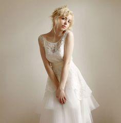 Leanne Marshall - Favorite Illusion Neckline Wedding Gowns of 2013 | OneWed
