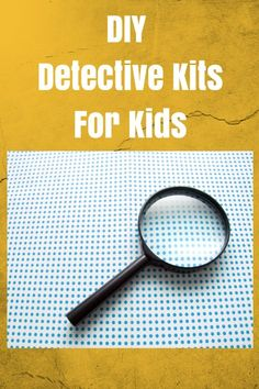 Detective Kit For Kids - fun ideas for creating a detective kit for play, party favors and family fun! Summer Kids, Kids Fun, Cool Kids, Craft Activities For Kids, Party Activities, Stem Activities, Summer Activities, Family Activities, Indoor Activities