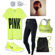 Trendy Gym Wear For Women : Workout outfit - Healthy Nike Outfits, Sport Outfits, Casual Outfits, Fashion Outfits, Cute Workout Outfits, Workout Attire, Workout Wear, Nike Workout, Athletic Outfits