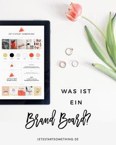 Ein Brand Board beinhaltet alle Informationen zu deinem Branding und ist eine großartige Möglichkeit, um ein einheitliches Design umzusetzen.