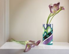 Emilio Pucci for Rosenthal Porcelain 'Wave' Vase in Blue, Green & Violet, circa 1966 by Los Fabulous