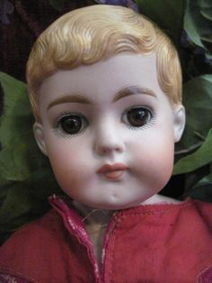 found Under The Lilacs on Ruby Lane, a dear closed mouth antique ABG boy bisque head doll