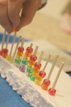 School Time Snippets: Pony Bead Rainbow Pattern Fine Motor Activity.