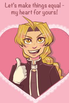 I've never done fandom valentines before, and I had a lot of fun with these! I hope you like them, and happy early Valentine's Day from the cast of Fullmetal Alchemist! Valentines Anime, Valentine Day Cards, Valentine Quote, Fulmetal Alchemist, 鋼の錬金術師 Fullmetal Alchemist, Ouran Highschool, Alphonse Elric, Edward Elric, Geek Games