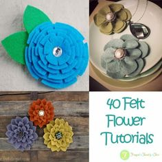 Frugal Family Fair: 40+ Felt Flower Tutorials