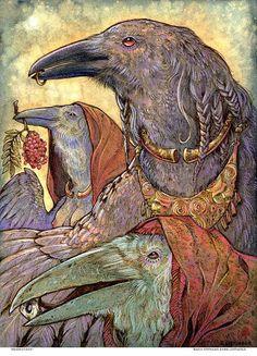 GENERATIONS Celtic Raven Shaman Celtic Crow Ring by Stephanie LoStimolo/SigiDawn on Etsy.com