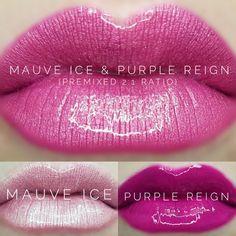 LipSense distributor #228660 @perpetualpucker Mauve Ice and Purple Reign combo