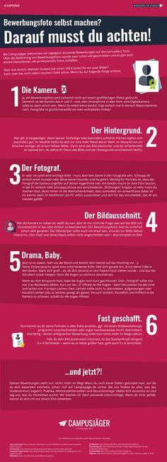 Infografik: Bewerbungsfoto selbst machen