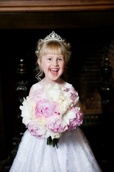Sweet girl with beautiful bouquet by Floral Fixx
