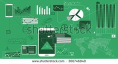 Green info graphic business background #business #startup #stock #sketch #business #background #vector #startup #skyline #sales #info #graphics #button