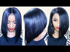Flawless Bob Cut Tutorial [Video] - Black Hair Information Community Bob Hairstyles 2018, Short Hairstyles For Women, Weave Hairstyles, Cool Hairstyles, Casual Hairstyles, Pixie Haircuts, Layered Haircuts, Medium Hairstyles, Hairdos