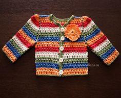 Hand Crocheted Baby Cardigan  Baby Sweater. by Illiana on Etsy, $4.90