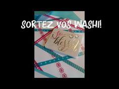 Cartes faciles (et super belles!) - washi tape et papier vélin de chez ACTION - YouTube