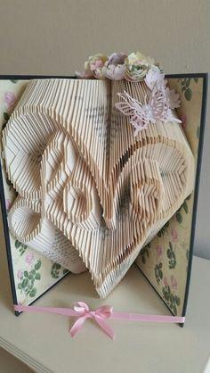 Swirly love book fold