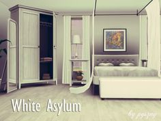 White Asylum Bedroom by pyszny16 - Sims 3 Downloads CC Caboodle