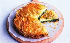 Greek spinach and leek pie