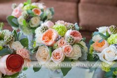 Bride and Bridesmaids Bouquets. June 29, 2013. Wilmington, NC. Chris Lang Photography. Design Perfection Weddings.