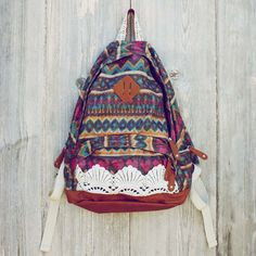 lace & tribal backpack