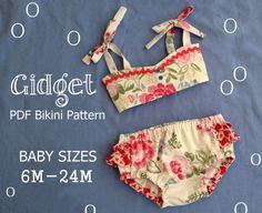 Gidget Baby Bikini Schnittmuster. Retro von RubyJeansCloset (no free pattern)