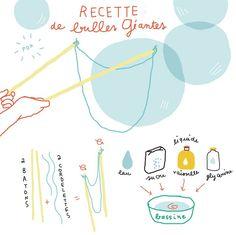 Recette pr faire des bulles géantes!!