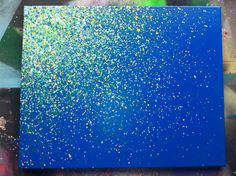 16x20 Paint Splatter Canvas by EASERR on Etsy, $50.00