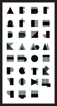 Font inspired by geometric shapes by Zoki Cardula, via Behance