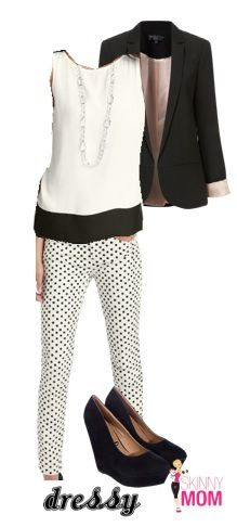 TREND ALERT: Black & White Prints. Dress this mod fashion with a blazer and an simple, silky top!