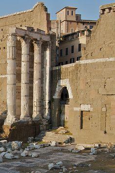 Roman Columns at The Forum, Rome
